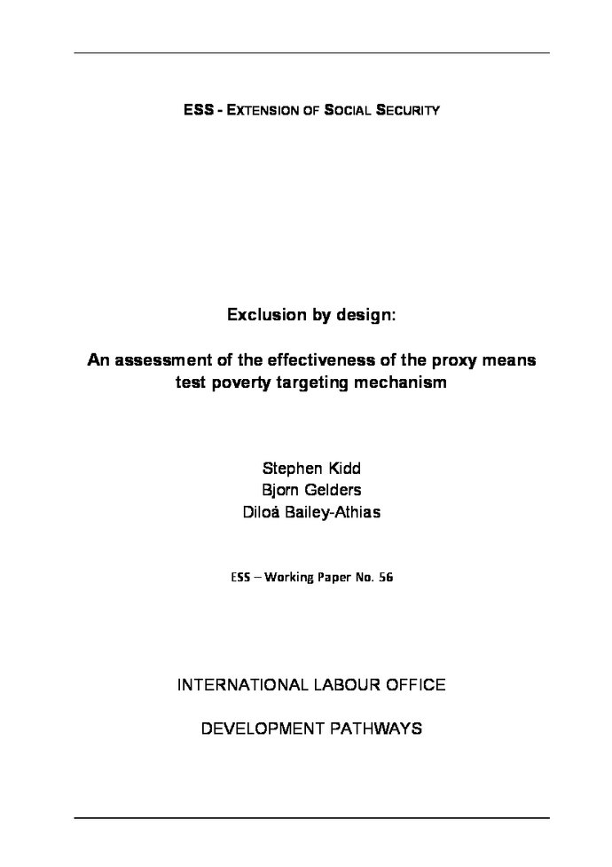 Exclusion by Design: An Assessment of the Effectiveness of the Proxy